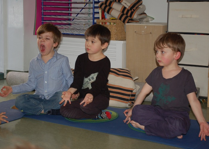 Picture of kids doing yoga #1